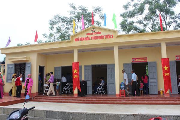 Khánh thành nhà văn hóa thôn Đức Tiến, xã Yên Bình